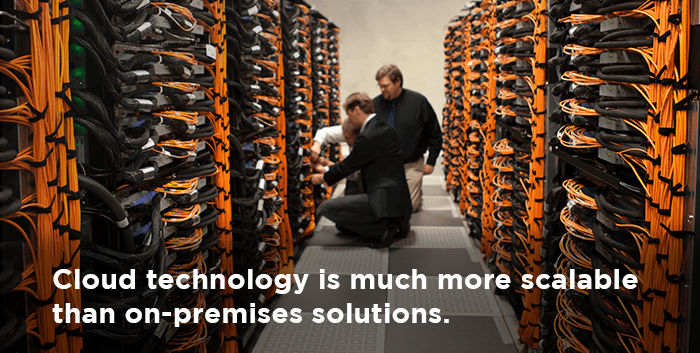 selling cloud is easier than on-premises solutions